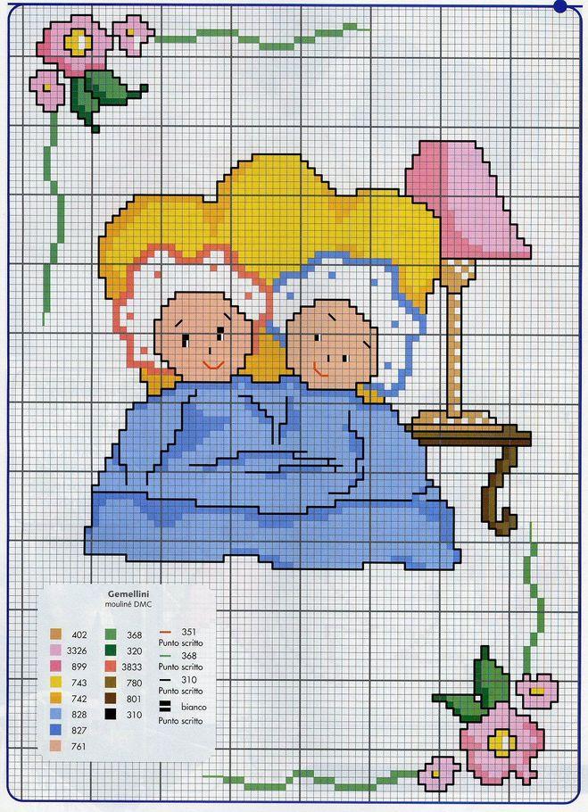 Вышивка метрики для мальчика и девочки 97