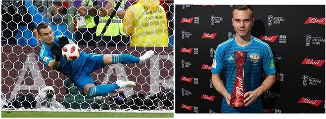 Игорь Акинфеев - лучший игрок в ЧМ-2018 по футболу в матче Россия - Испания