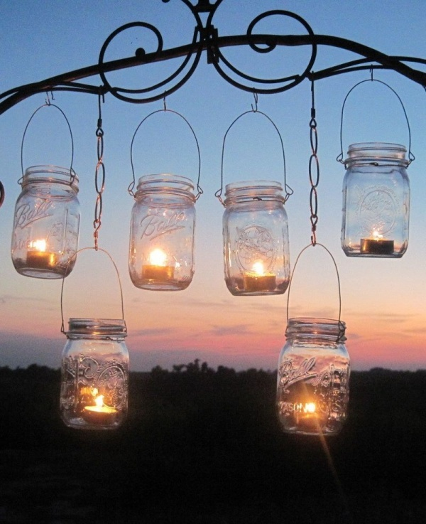 Светильники для улицы своими руками