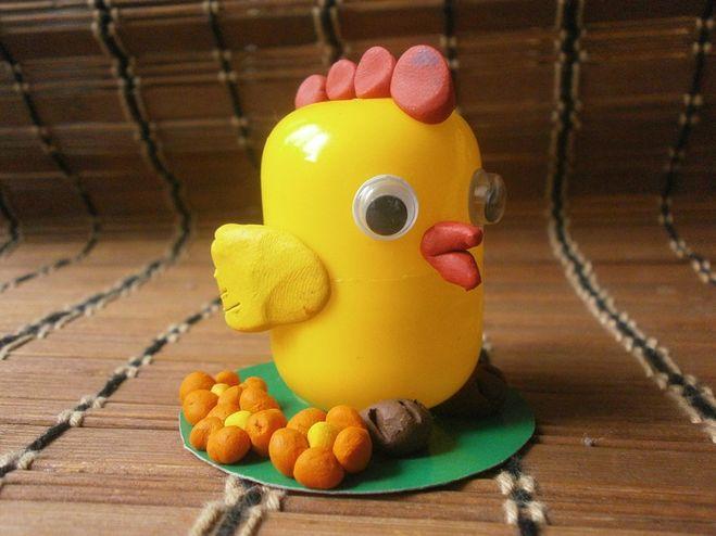Поделка из яйца.цыпленок