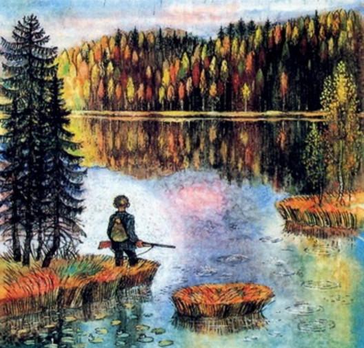 что рассказывает писатель о рыбной ловле в рассказе васюткино озеро