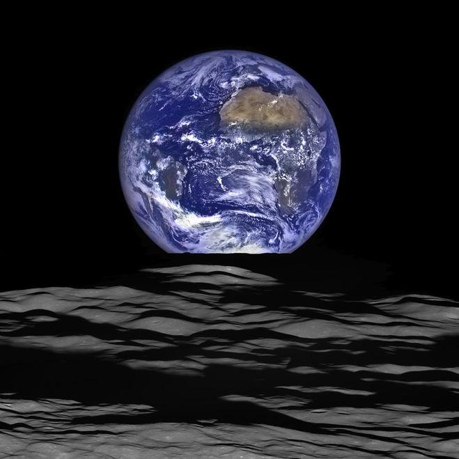 луна, земля, наса, фото