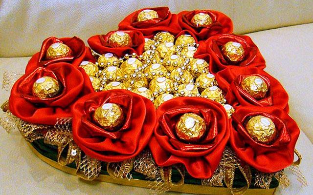 Букет из конфет украшение мастер класс