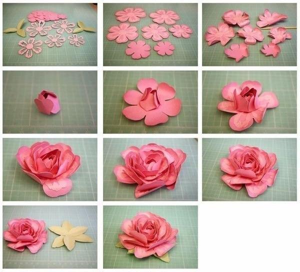 Красивые розы из бумаги своими руками