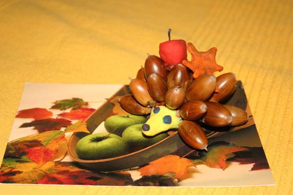 Поделки из желудей для детского сада своими руками фото