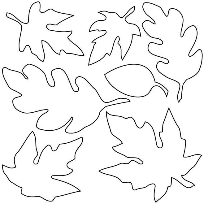 как сделать лист, как сделать осенний лист, выкройки осеннего листа, поделки из фетра, шаблоны осенних поделок из фетра