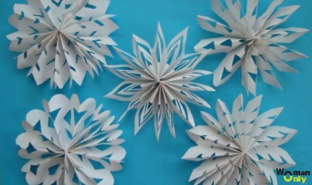 Снежинки из бумаги обьемные своими руками