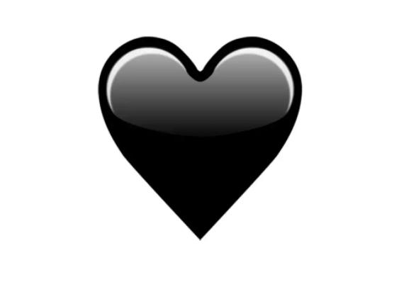 сердце черное картинки