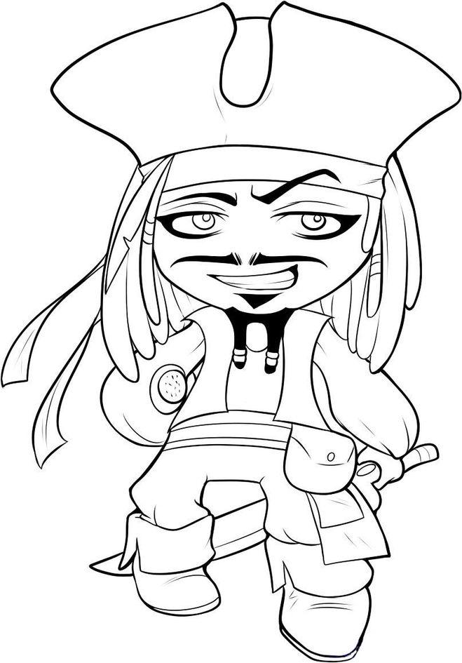 Как нарисовать пирата карандашом