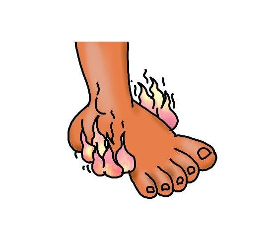 Как лечить стопу ноги покраснела и горит огнём