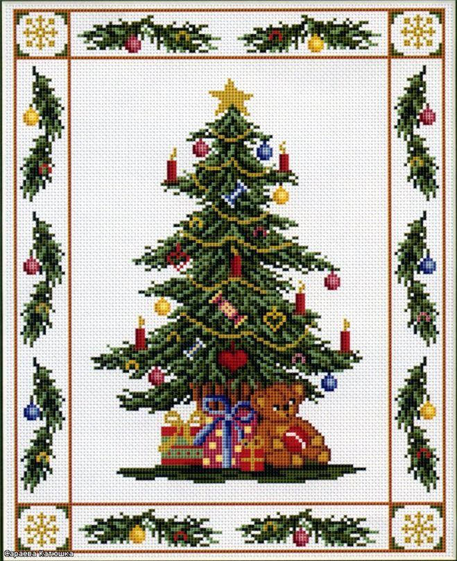 Схема вышивки новогодней елки фото 261