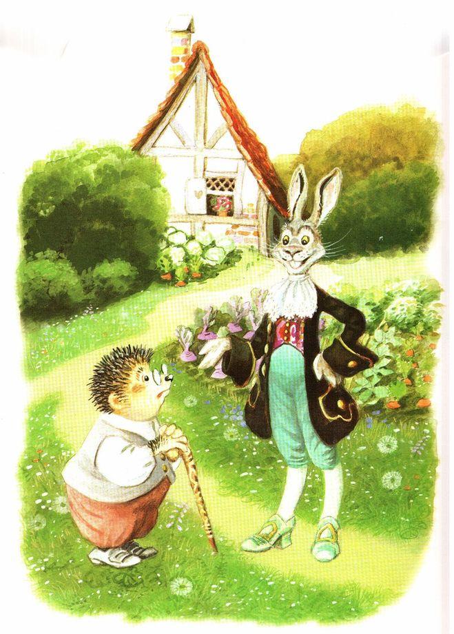 В какой сказке братьев Гримм ежи перехитрили зайца?