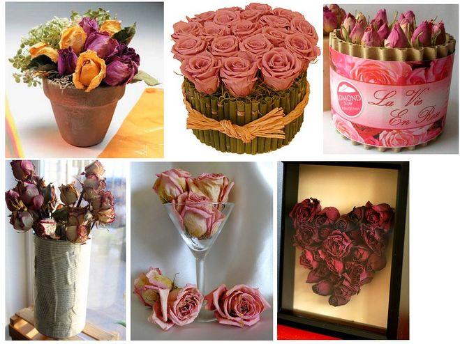 Сухие лепестки роз поделки своими руками 25