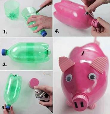поросенок-копилка своими руками из пластиковой бутылки
