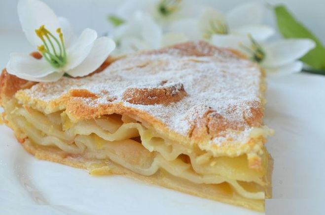 Пироги из слоеного теста с яблоками рецепты легкие