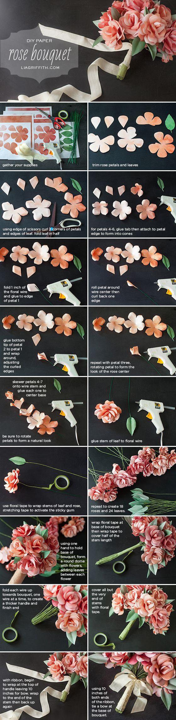 Как сделать букеты своими руками из бумаги