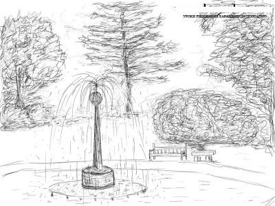 Картинки парка раскраска