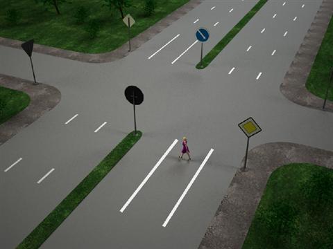 перекресток без пешеходного перехода