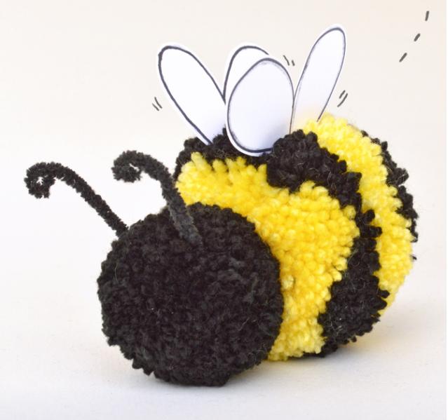 Пчелка своими руками из помпонов своими руками