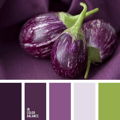 С каким цветом сочетается баклажановый цвет