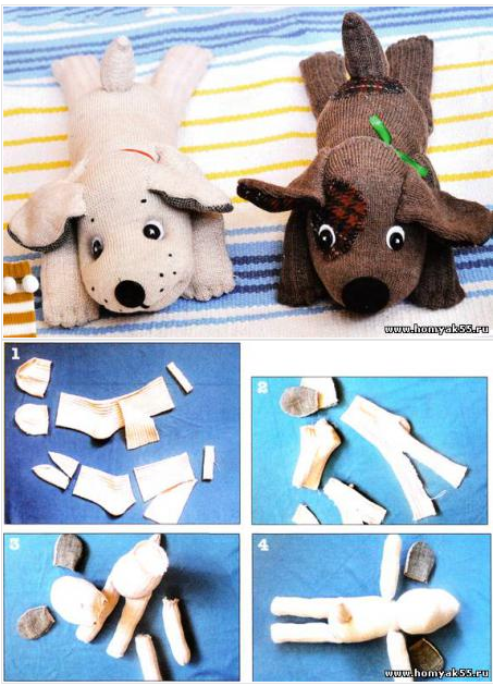 Как сделать собачку из ткани своими руками