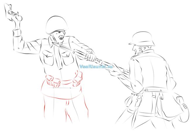Война как рисовать поэтапно