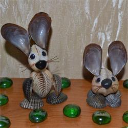 Зайца из ракушек своими руками 67