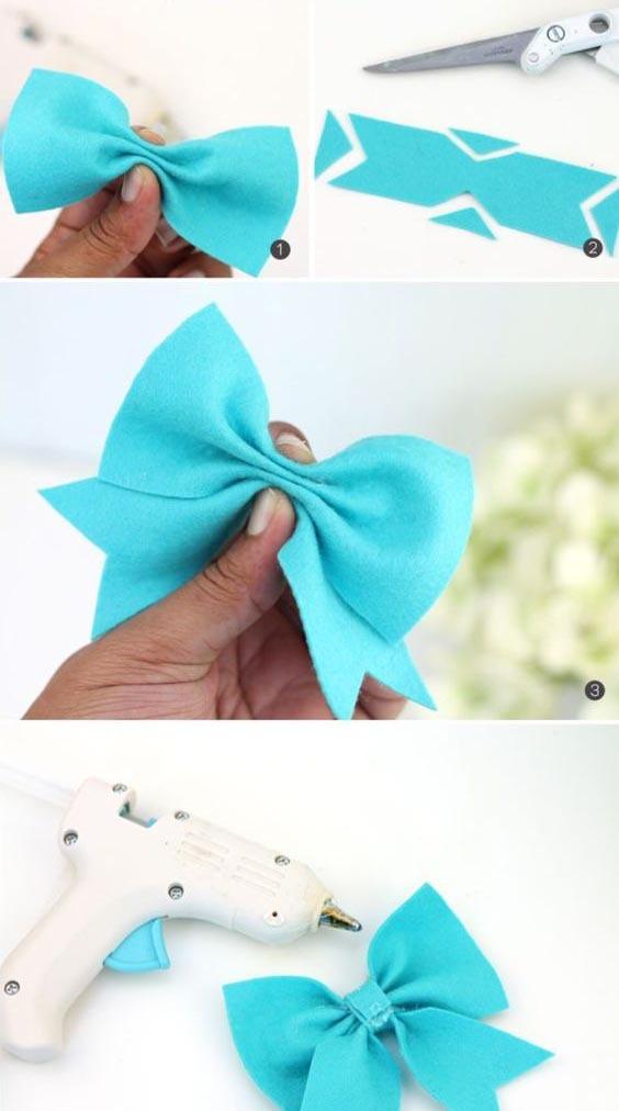 Как сшить бантик из ткани своими руками на голову