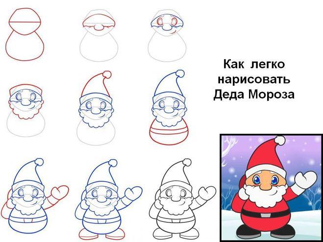 Что нарисовать на открытки на новый год