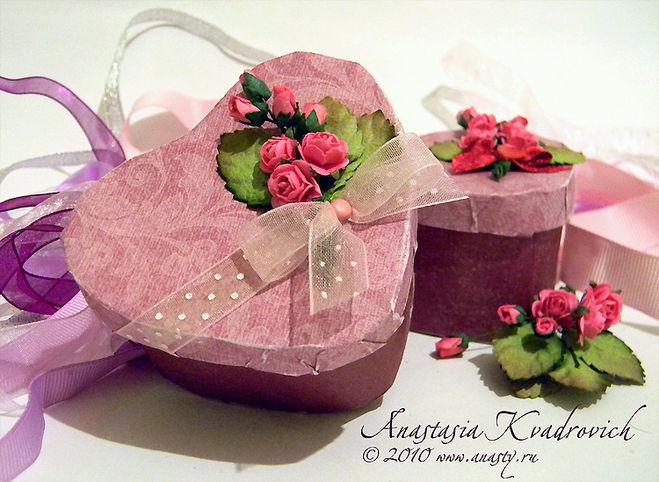 Сделать подарочную коробку в виде сердца своими руками