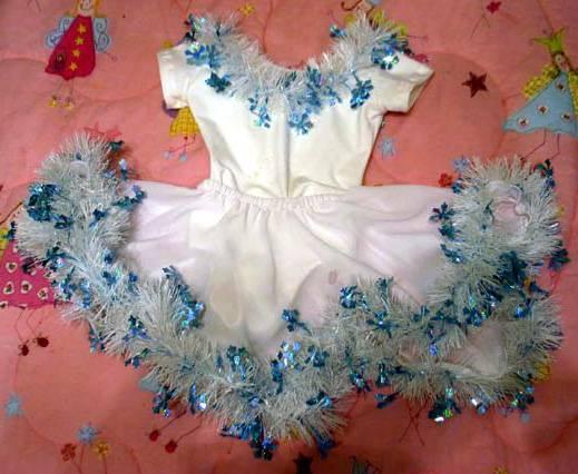 Как сделать платье снежинки своими руками с фото