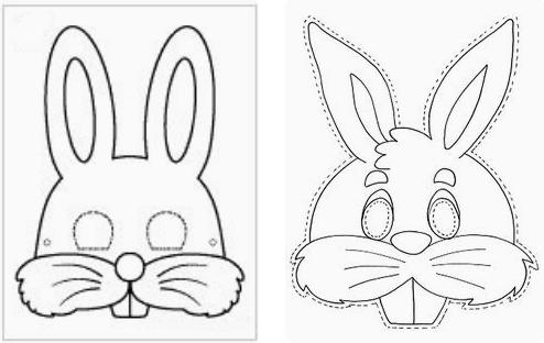 маска Зайца из фетра шаблон