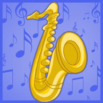 рисунок саксофона