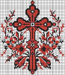 вышивка крестиком своими руками православный крест схема