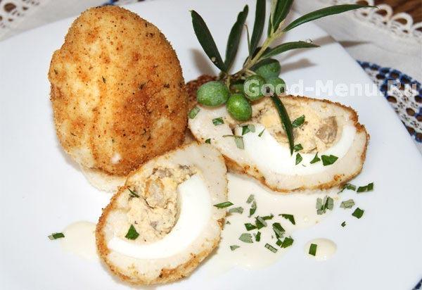 Вареные яйца в кляре рецепт
