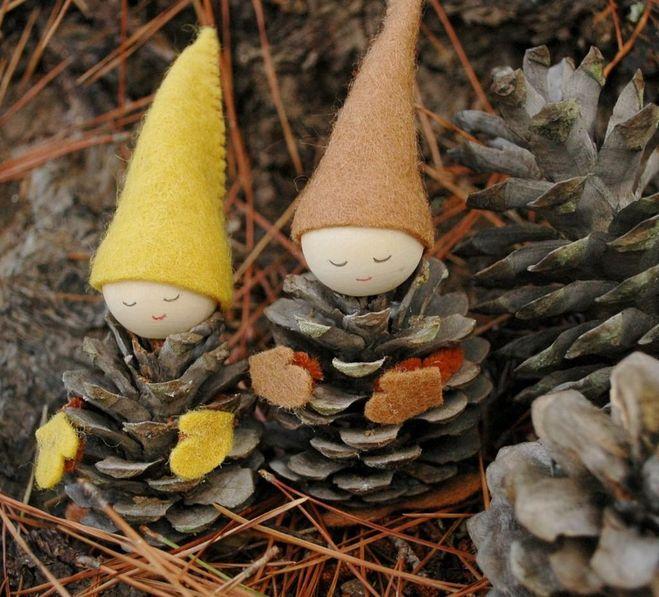 Осенние поделки из сосновых шишек своими руками