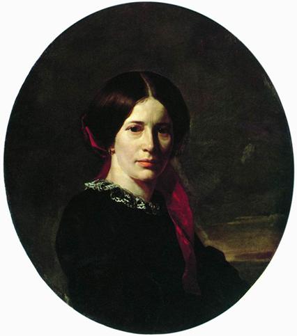 неврев портрет молодой женщины в черном