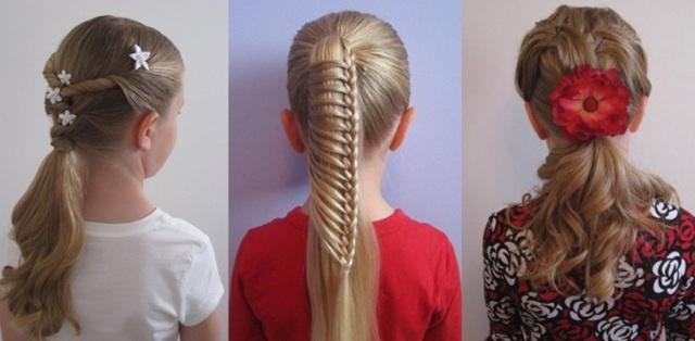 Как сделать модную прическу дома видео для детей