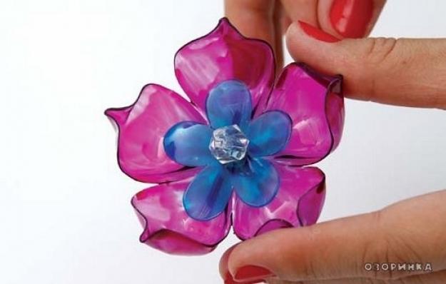 Цветы из органзы большие своими руками мастер класс