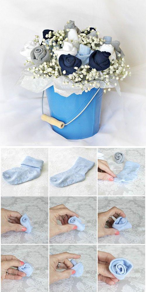 букет из детской одежды своими руками