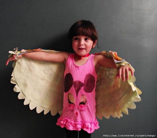 Крылья для девочек сделать своими руками