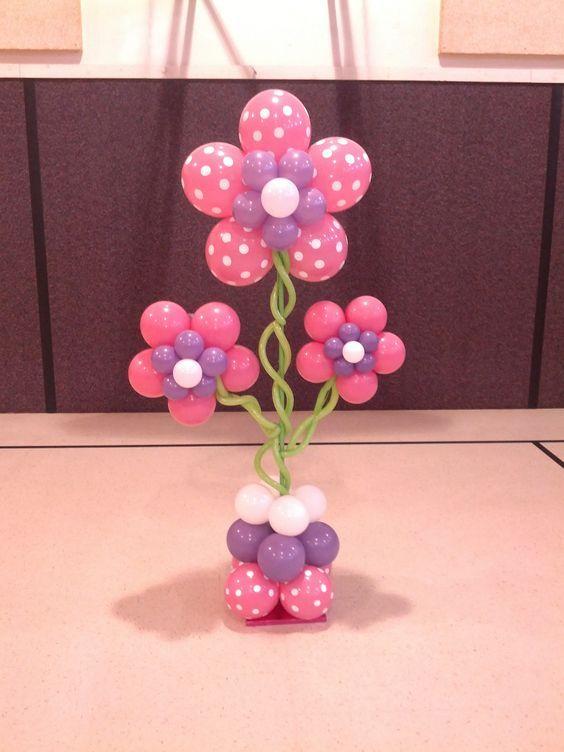 Цветы из круглых шаров мастер класс с пошаговым фото для начинающих
