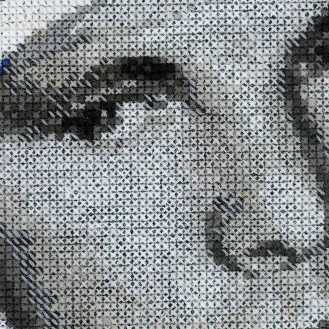 как вышить портрет Гагарина