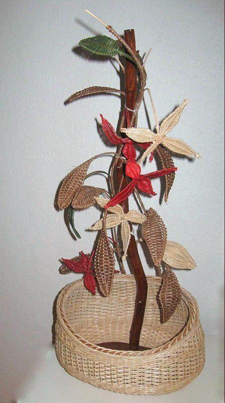цветы из газетных трубочек своими руками