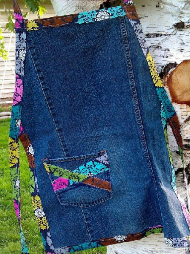 Прихватки из джинсовых карманов своими руками