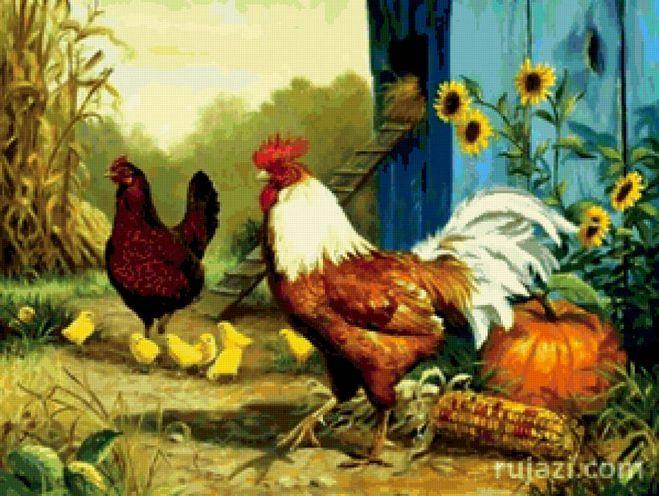 Схемы для вышивки цыплята