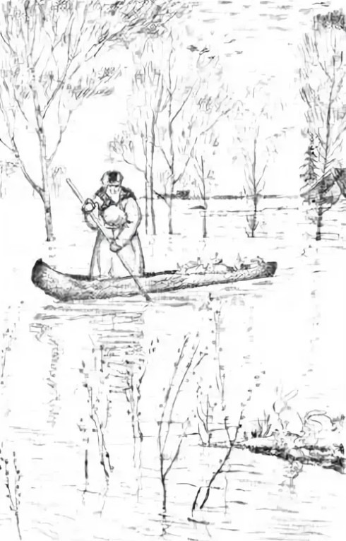 Дед Мазай и зайцы рисунок карандашом 3 класс