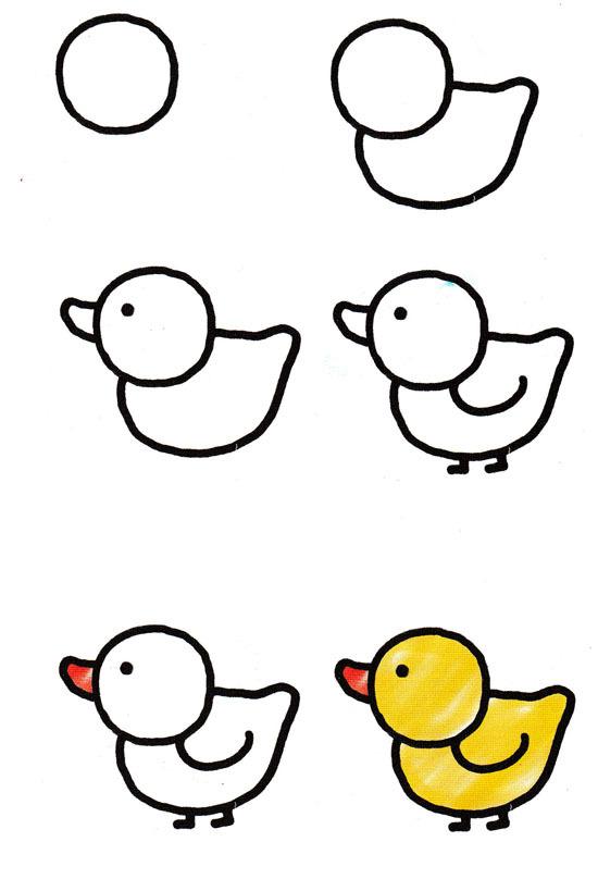 Рисовать пошагово для малышей