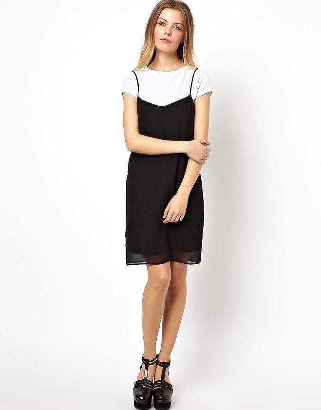 Платье комбинация на футболку