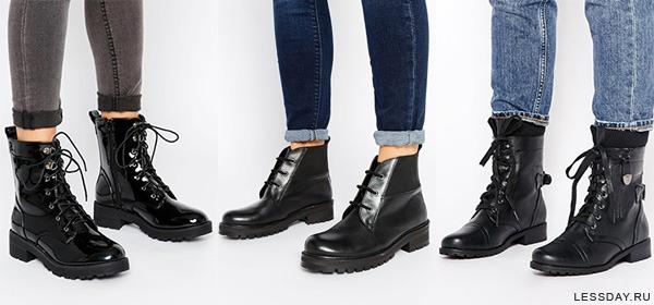 Какие ботинки женские сейчас в моде 2016